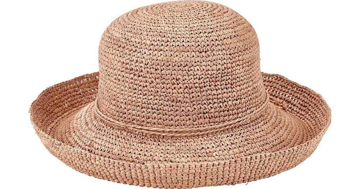 b091e68790d Lyst - San Diego Hat Company Crochet Raffia Kettle Brim Hat Rhm6004 in  Natural