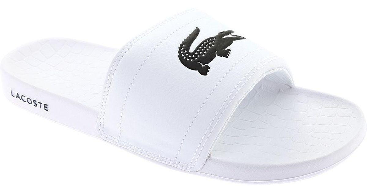568f8edff Lyst - Lacoste Frasier Slide Sandal in White for Men - Save 8%