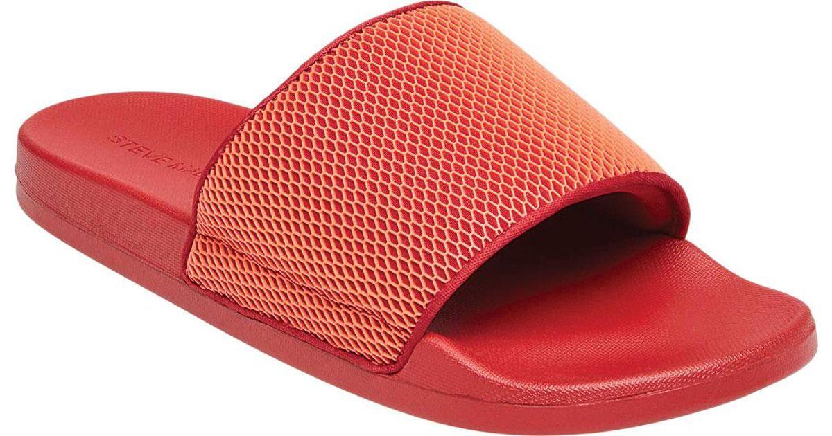9259747de1e Steve Madden - Red Ransom Slide for Men - Lyst