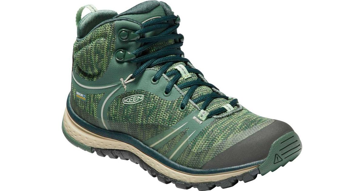 5036264bdac Keen Green Terradora Mid Waterproof Hiking Boots for men