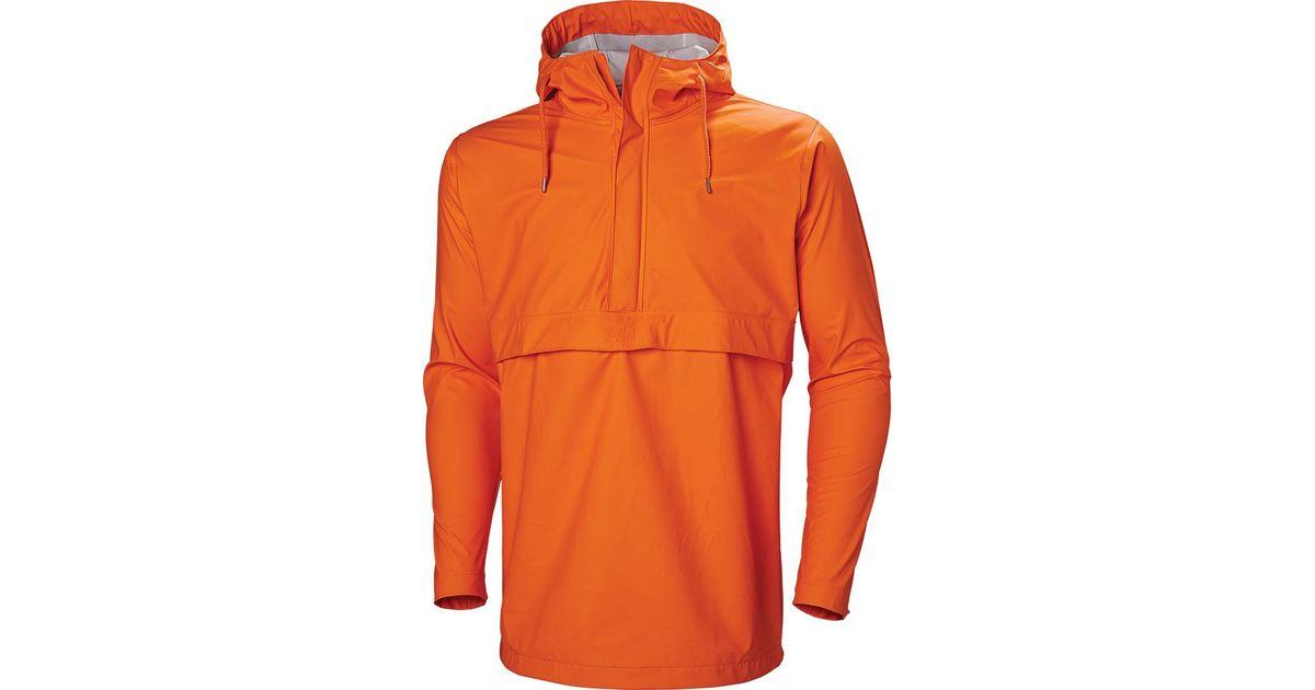 362fc825393 Lyst - Helly Hansen Moss Anorak Rain Jacket 53260 in Orange for Men