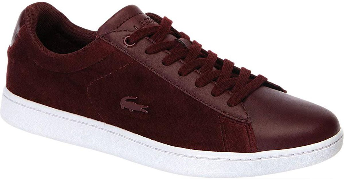 e98c78bff Lyst - Lacoste Carnaby Evo 318 8 Womens Burgundy   White Trainers - Save 22%