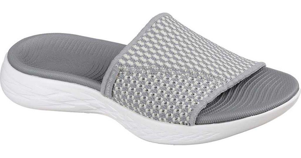 2fcc3b833b26 Lyst - Skechers On The Go 600 Nitto Slide Sandal in Gray