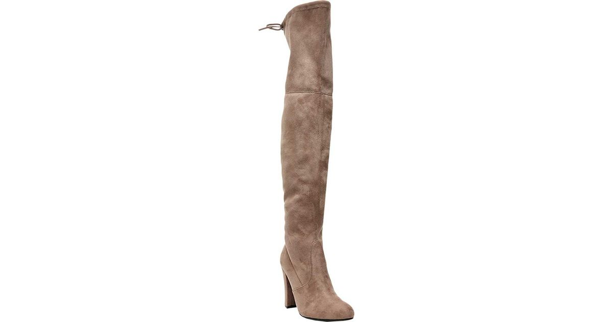 5ea7dff85fe Lyst - Steve Madden Gorgeous Over The Knee Boot in Brown