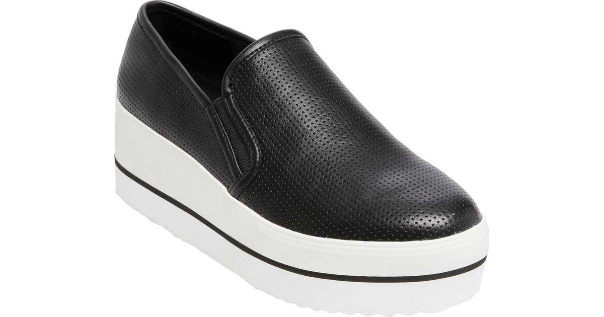 Steve Madden Becca Perforated Platform Wedge Slip-On Sneakers PZlhp