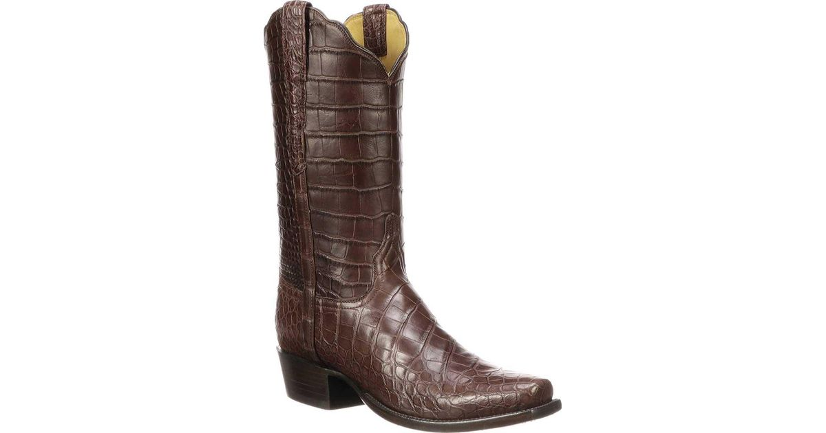 e59fe9f38b3 Lucchese Bootmaker Brown Baron 7 Toe Cowboy Boot for men
