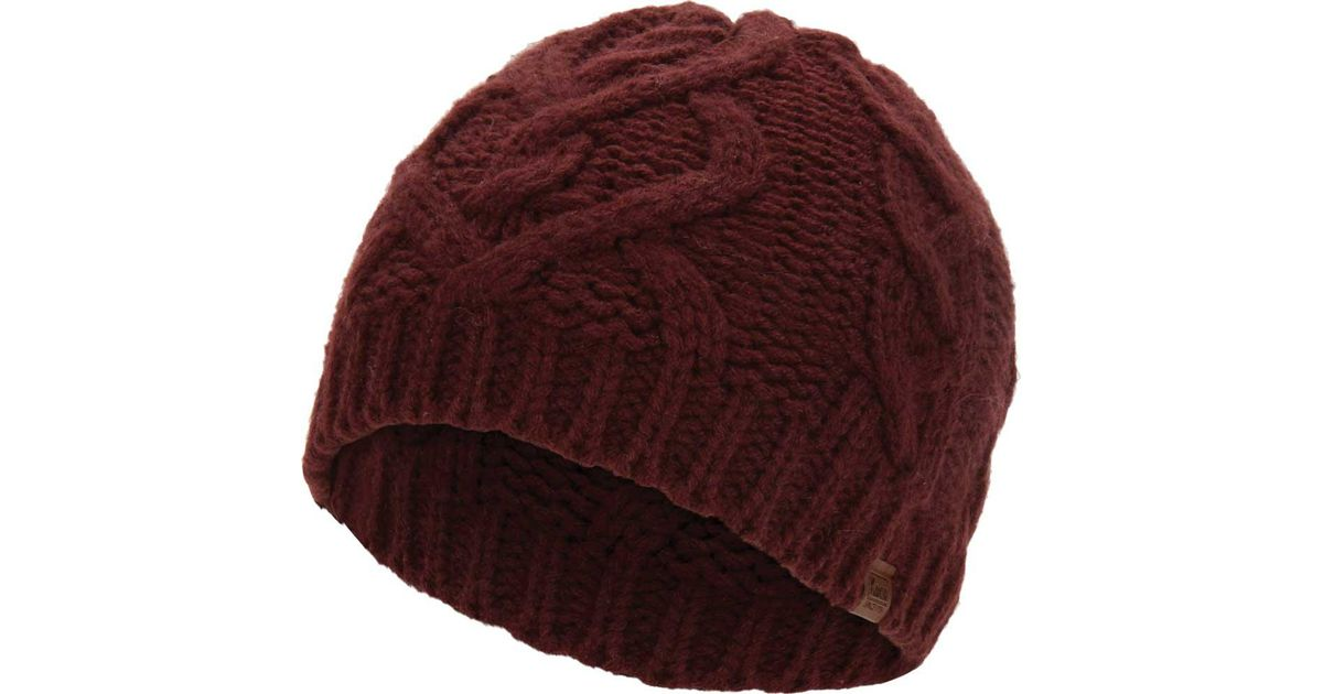 179a5820397 Lyst - Keds Large Cable Knit Beanie in Red