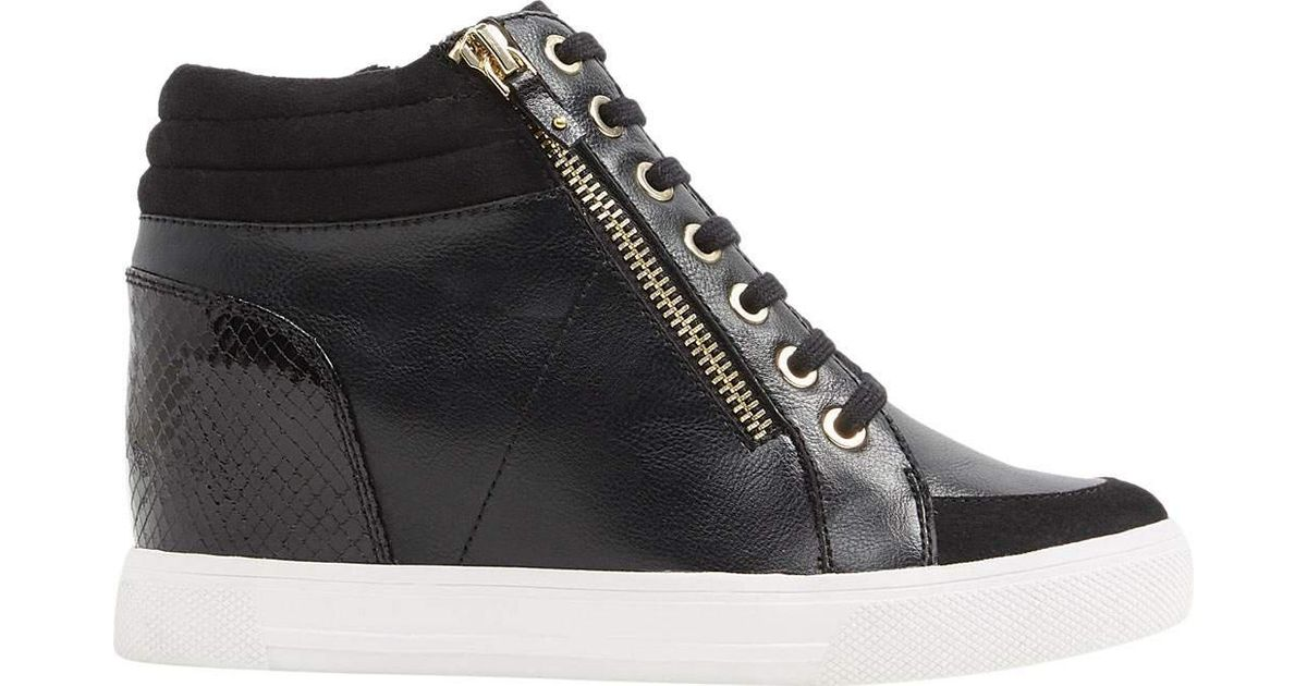 f869990a01b5 Lyst - ALDO Ailanna Wedge Sneaker in Black