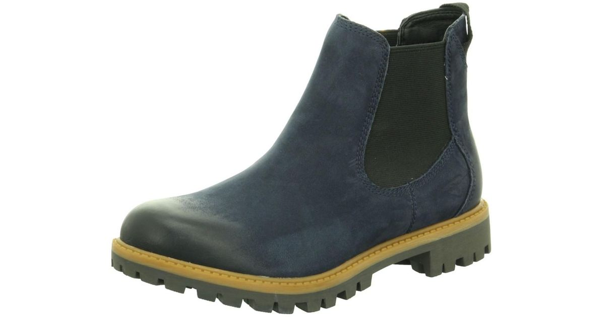 50% off new lifestyle the best Tamaris Wo Chelsea Boot Blue Da.-stiefel in Blue - Lyst