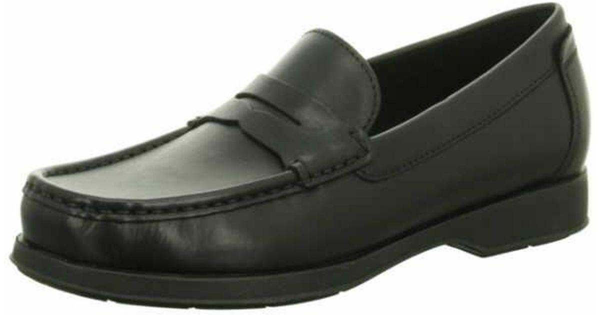 Geox dallaghas slip ons black men shoes casual slip ons