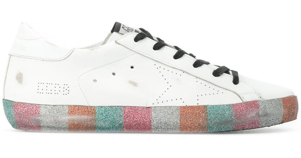 Rainbow Glitter Superstar Sneakers