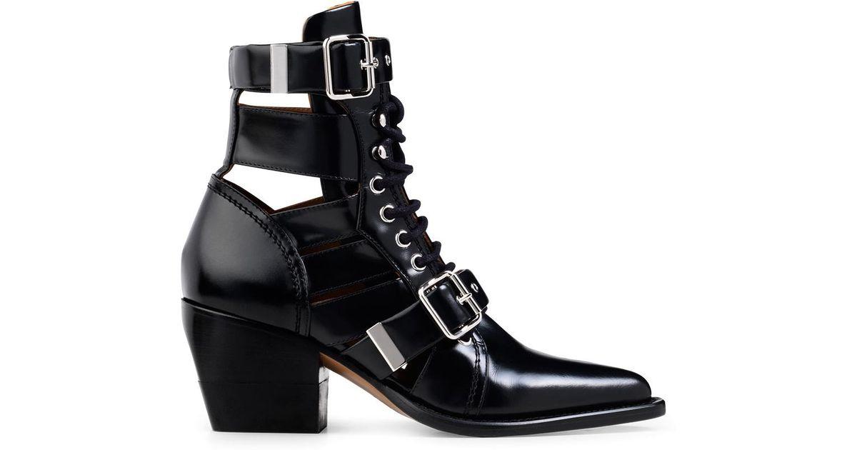 Chloé Women's Rylee Block Heel Bootie idQ2NAGQS