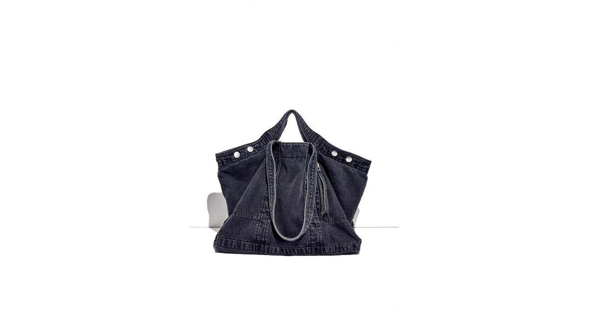 67d7f0cfa19c Lyst - 3.1 Phillip Lim Black Denim Field Tote Bag in Black