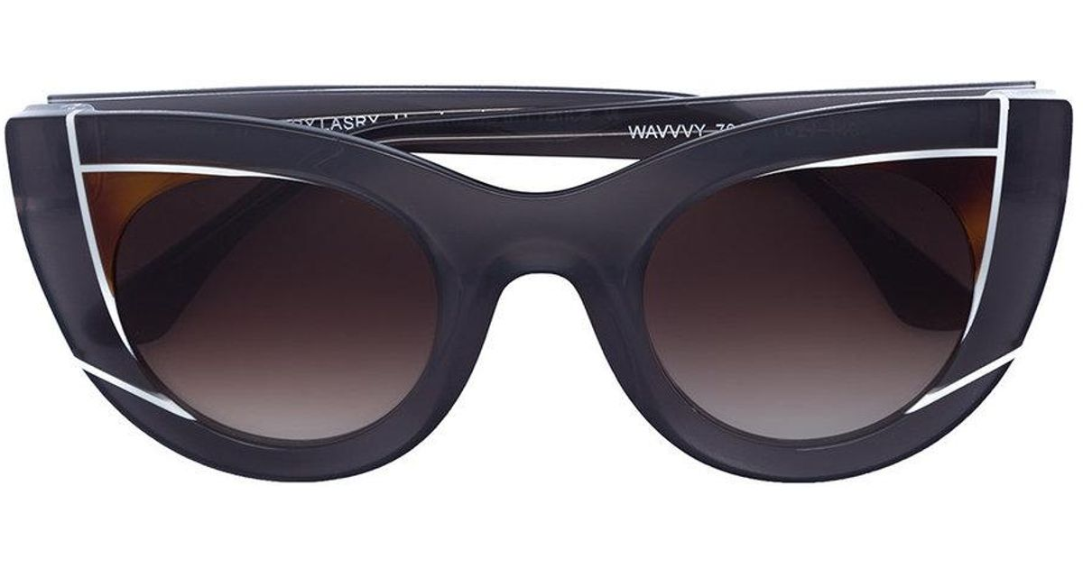 d7d9413e93 Lyst - Thierry Lasry Wavvy Sunglasses in Black