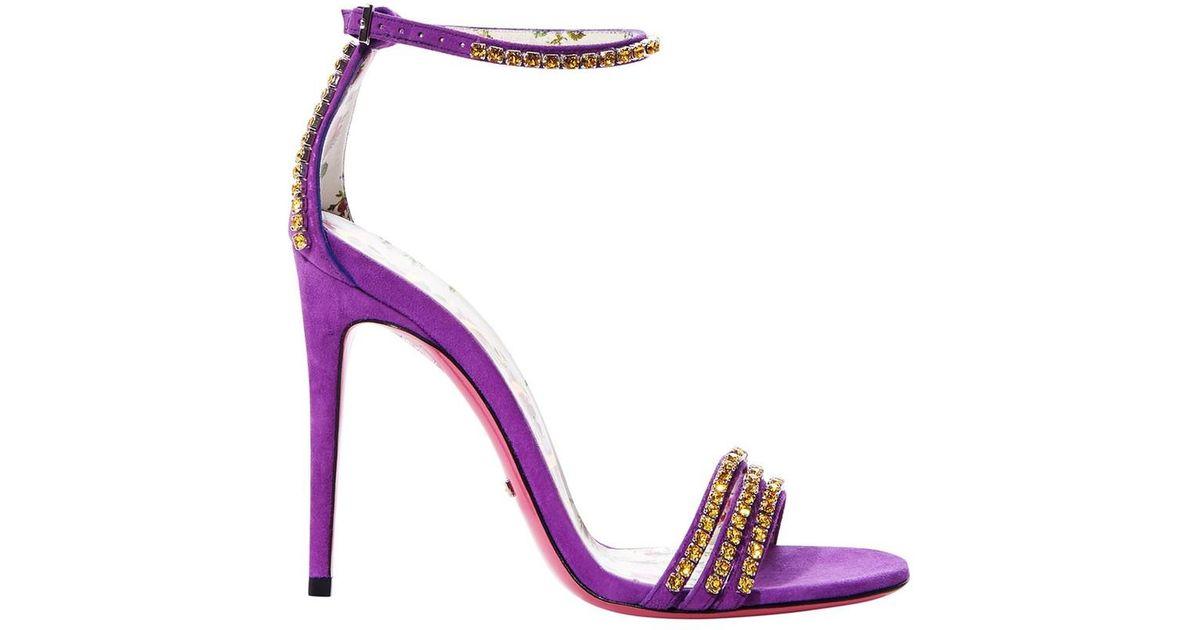 Purple Crystal Heels