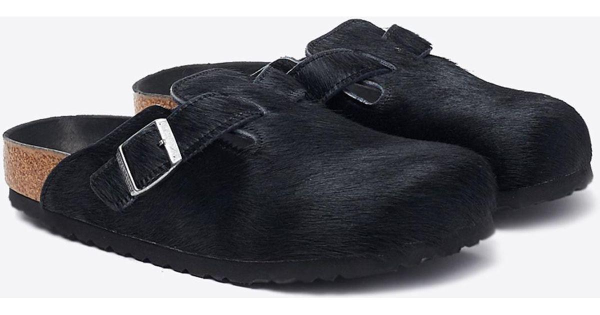 6cf1d09a216a Lyst - Birkenstock Boston Hex Hair Shoe in Black