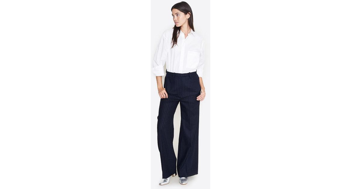af4db13dab Lyst - Nehera Polys Striped Wool Trousers in Blue