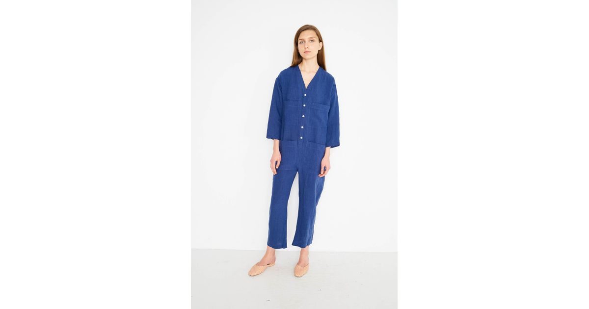 fc47c3e1c78 Lyst - Ilana Kohn Tuck Coverall in Blue