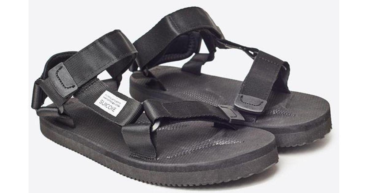 4b85612dd58b Lyst - Suicoke Classic Two Strap Vibram Sole Sandal in Black