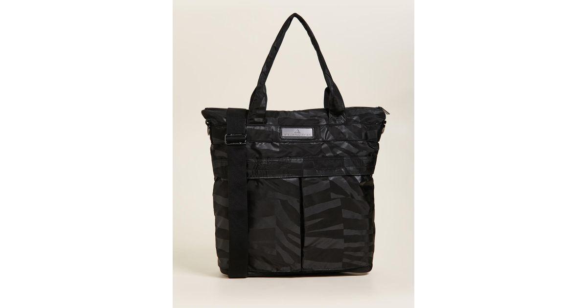 919fe940a6 Lyst - adidas By Stella McCartney Essentials Sports Tote in Black