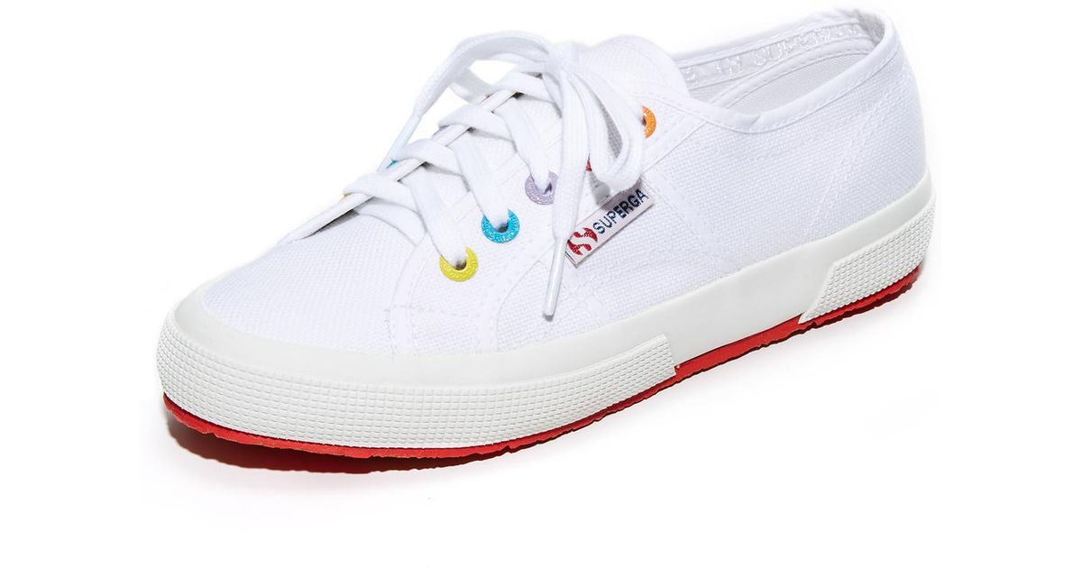 5ebbe881cdd2a Superga White 2750 Multi Eyelet Classic Sneakers