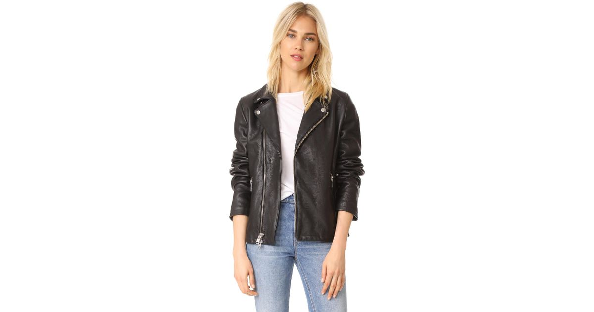 02dbf3ee9 FRAME Black Oversized Moto Jacket