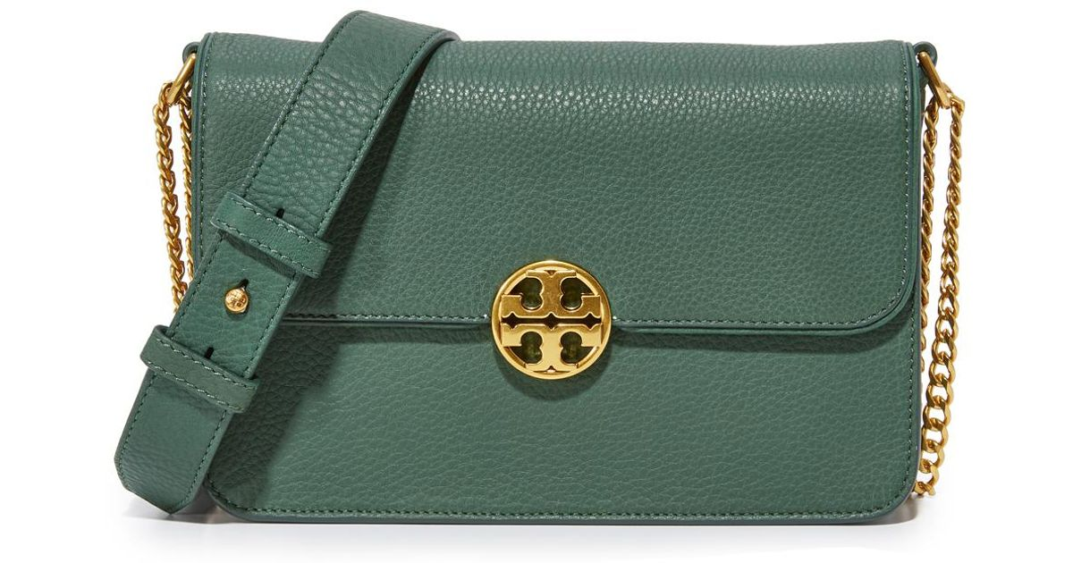 bfe45d1c8ae Tory Burch - Green Chelsea Convertible Shoulder Bag - Lyst