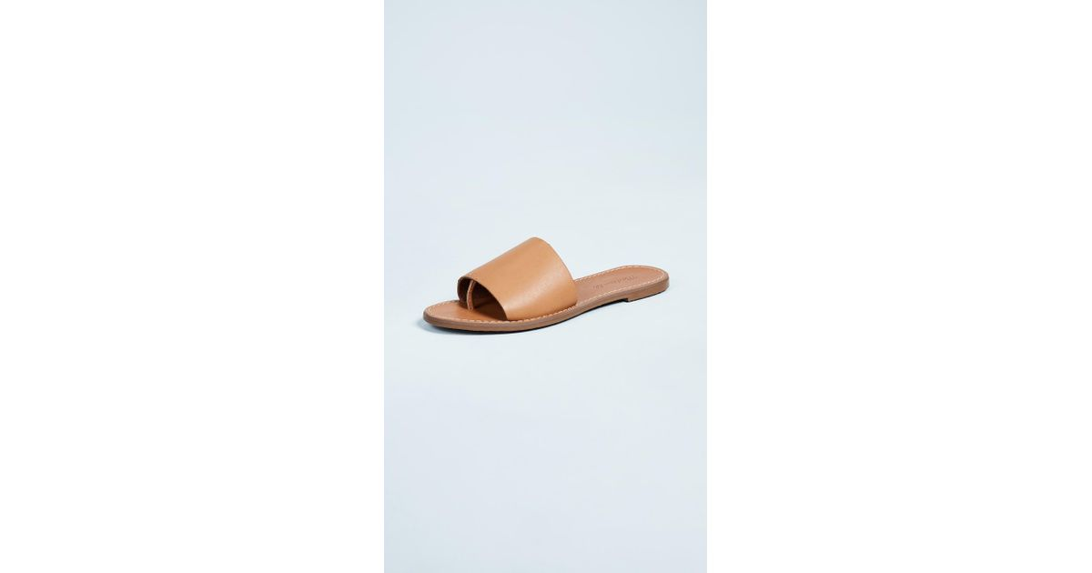 677a7e3d5d6ae5 Lyst - Madewell The Boardwalk Post Slide Sandals in Natural