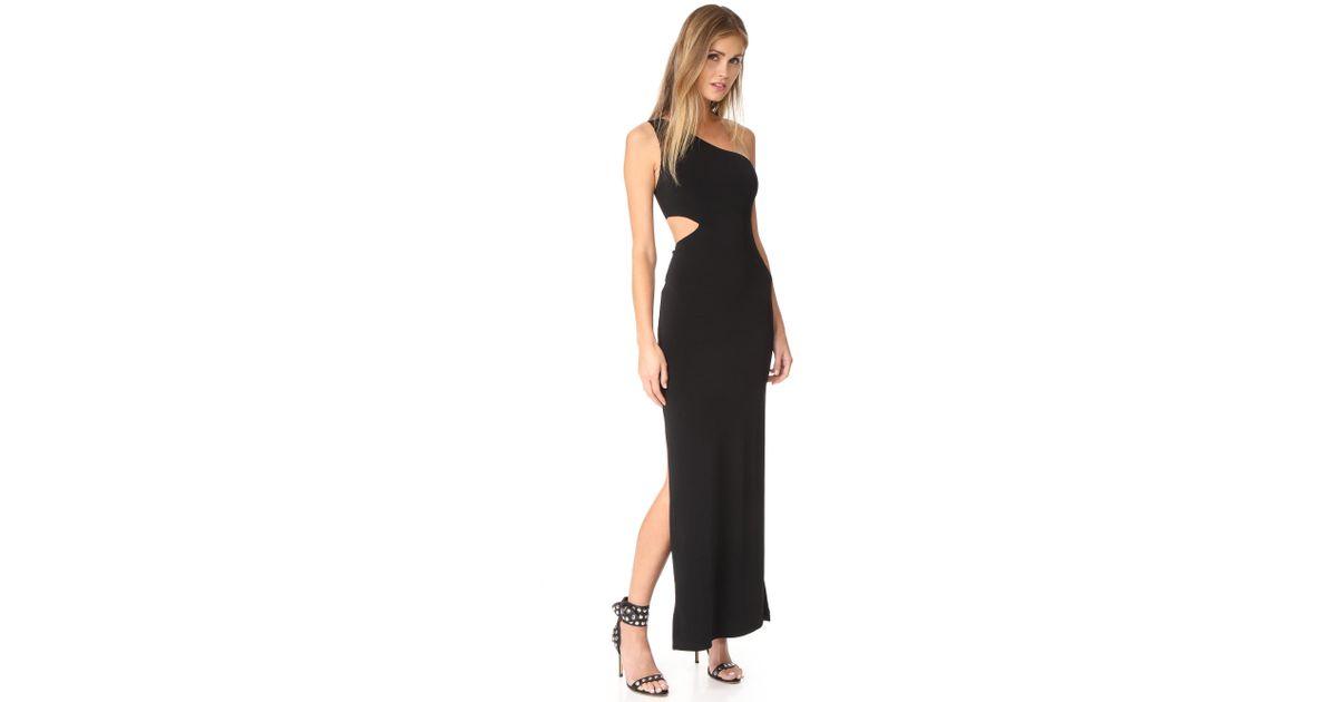 f8fa6b209637 Lyst - Alice + Olivia Air Malia One Shoulder Maxi Dress in Black