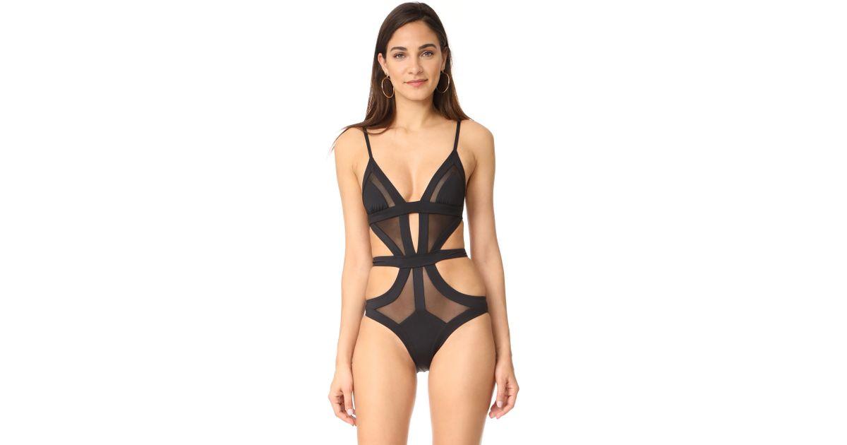88e0ea62d18 Kopper   Zink Frankie One Piece Swimsuit in Black - Lyst