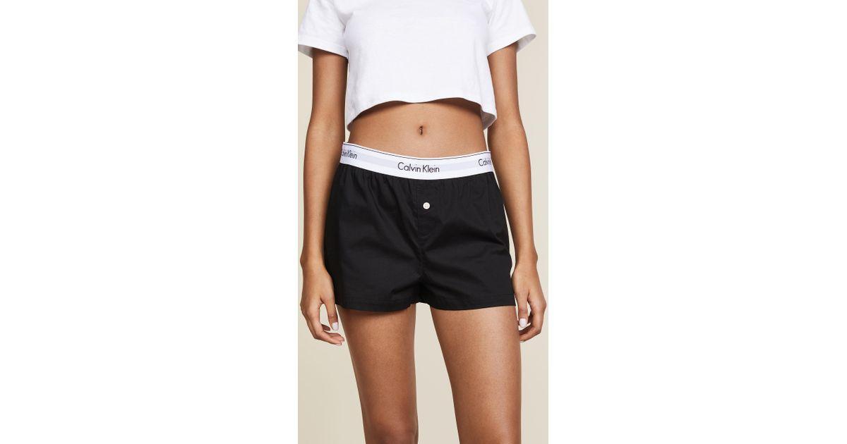 Lyst - Calvin Klein Modern Cotton Sleep Shorts in Black 69c031120