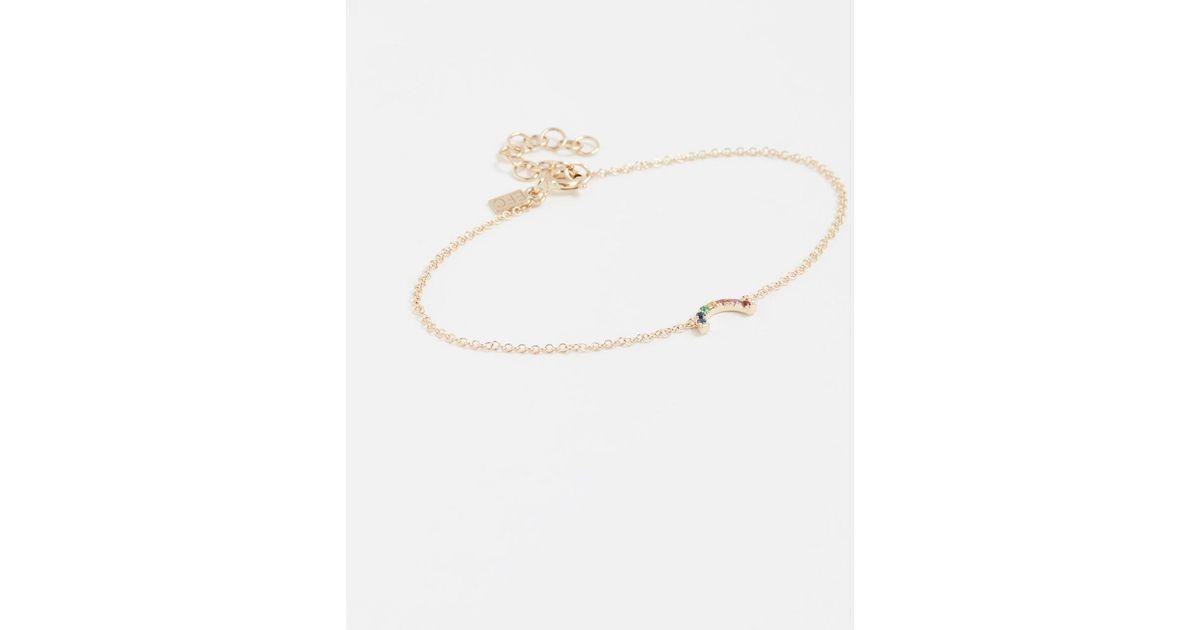 EF Collection 14k Gold Diamond Bracelet BkXne