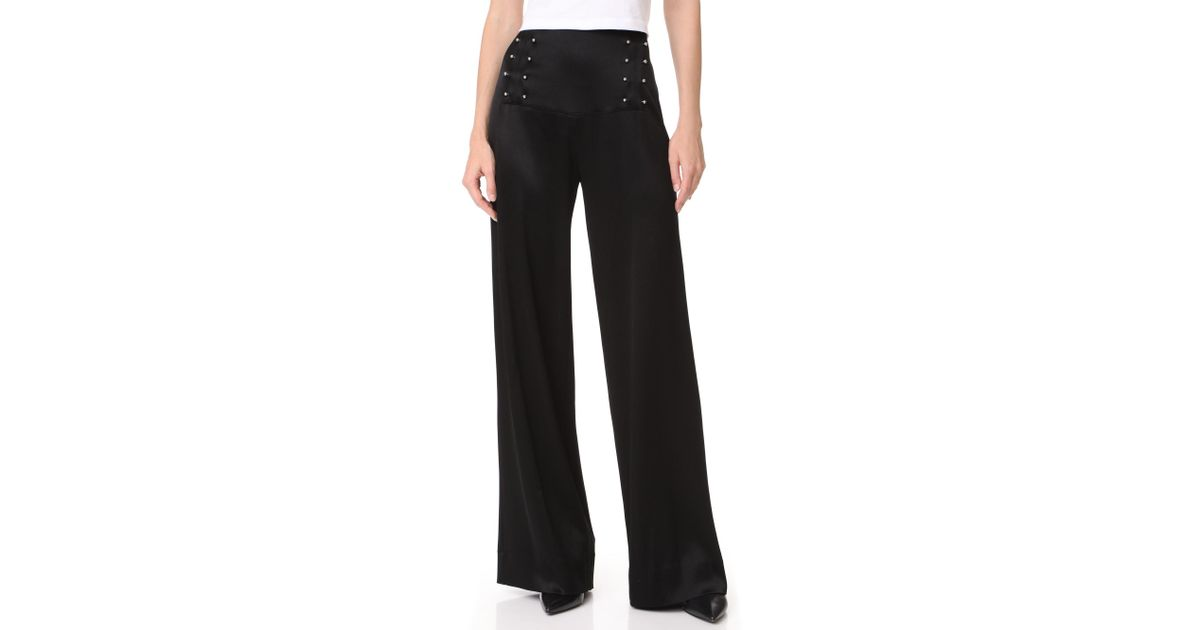 eb7016b3decbb Lyst - 10 Crosby Derek Lam Sailor Pants With Barbell Detail in Black