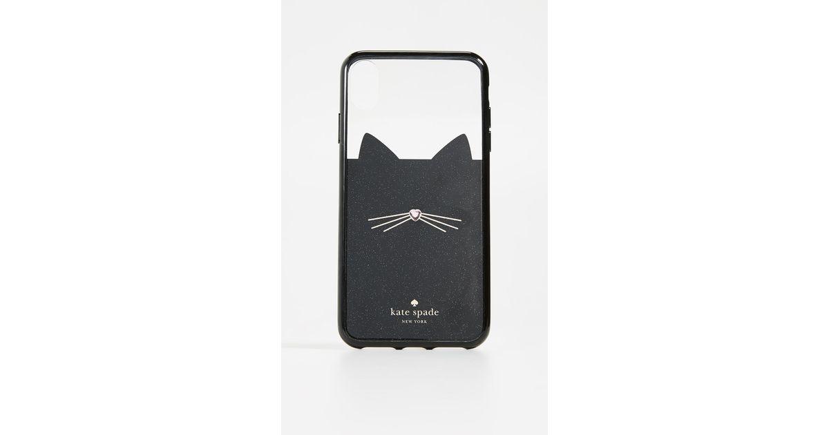 kate spade jeweled glitter cat iphone xs max case