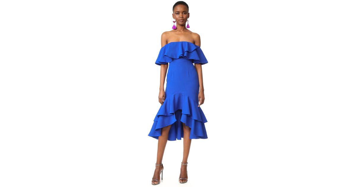 33d8fa6d605 Fame & Partners Blue Sasha Dress