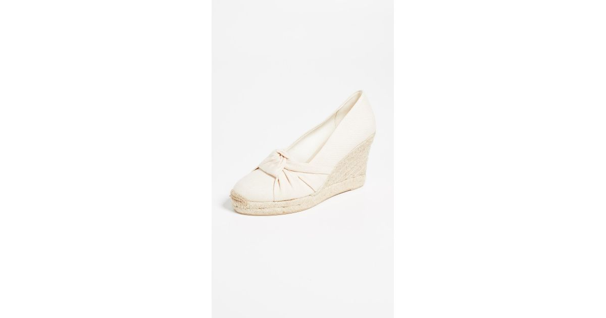 b06d51100a0 Soludos Multicolor Knotted Tall Wedge Espadrilles