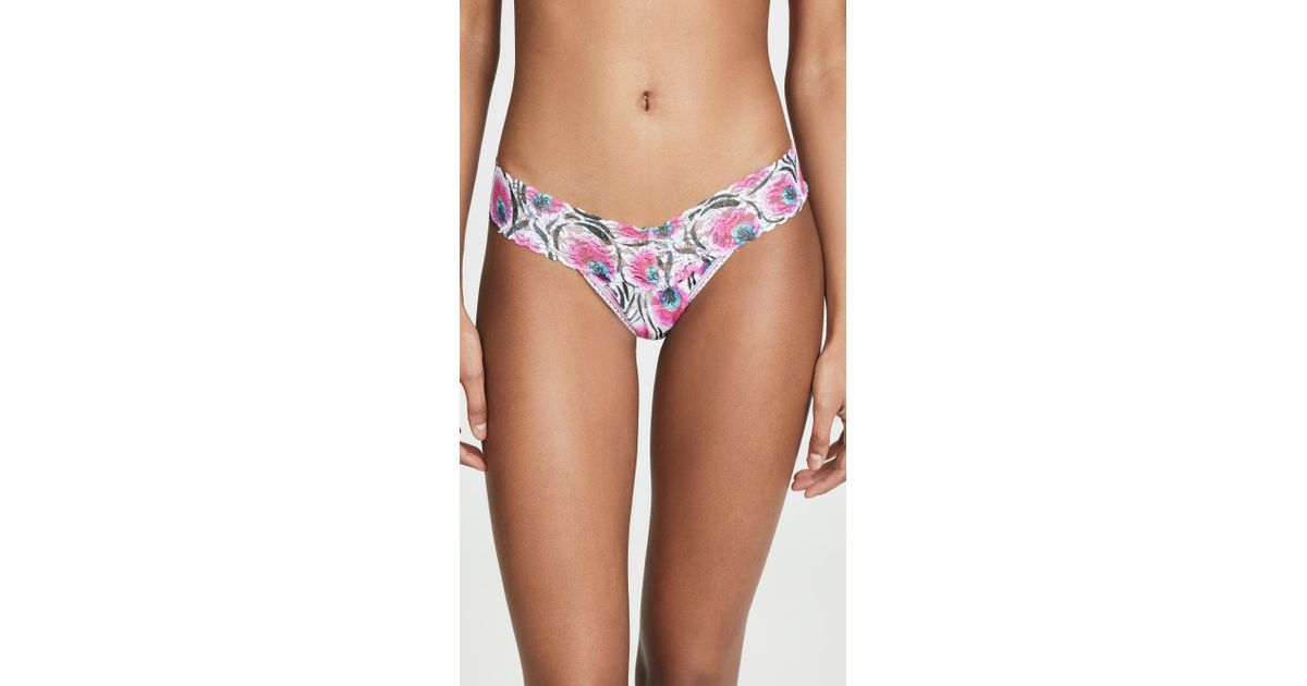 6beae8767f4a Hanky Panky Pink Plumes Low Rise Thong in Pink - Lyst