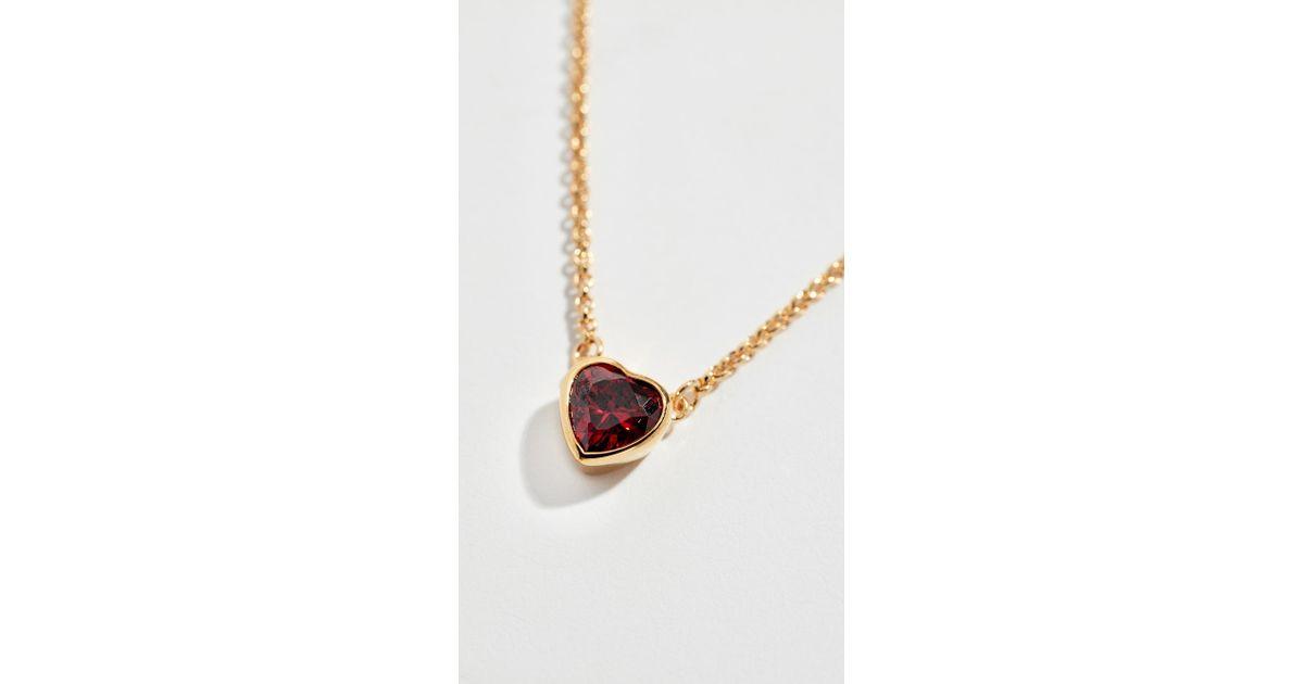 9a410fece905b Kate Spade Red Romantic Rocks Mini Pendant Necklace