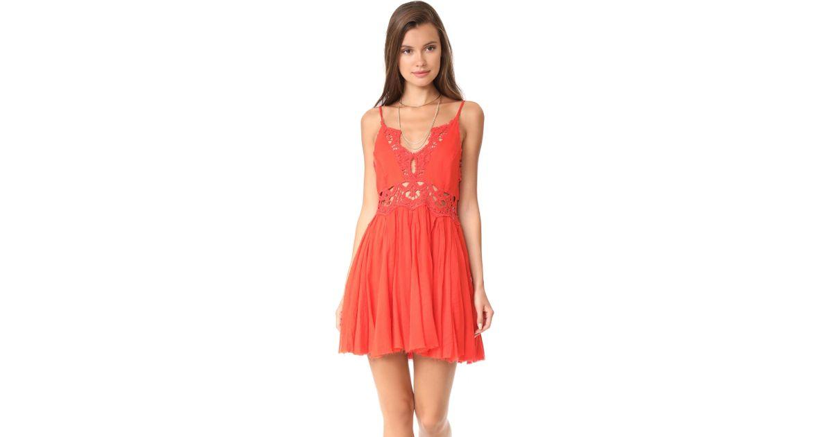 75fcd3e83c3d Free People Ilektra Mini Dress in Red - Lyst