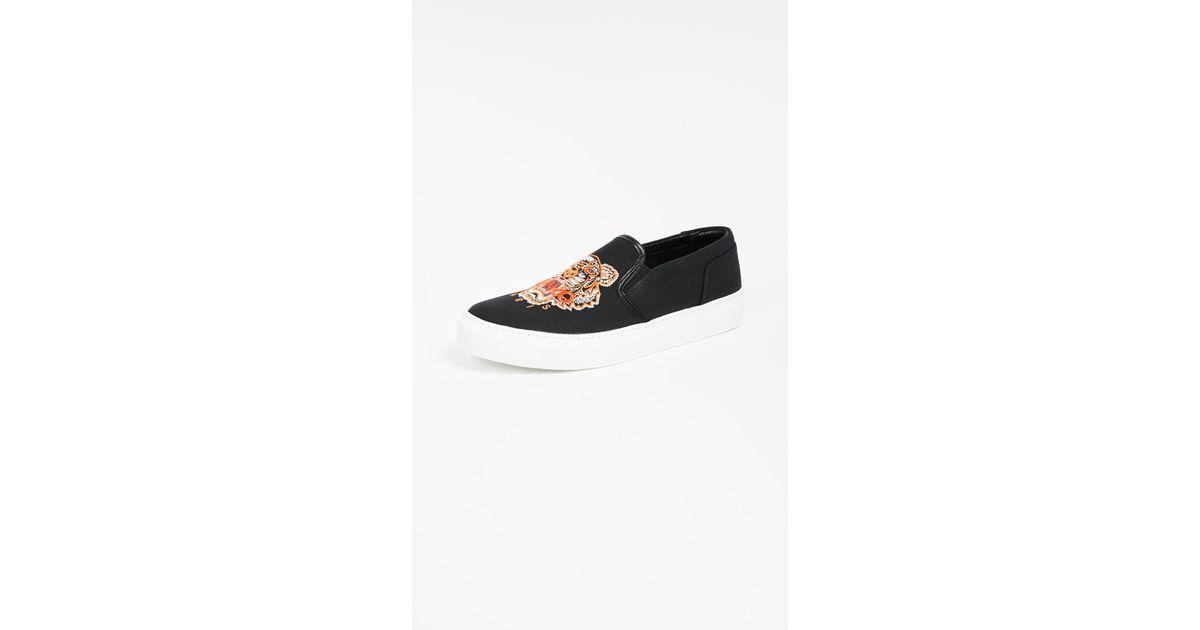 4e3ba3625e KENZO Black K-skate Tiger Sneakers