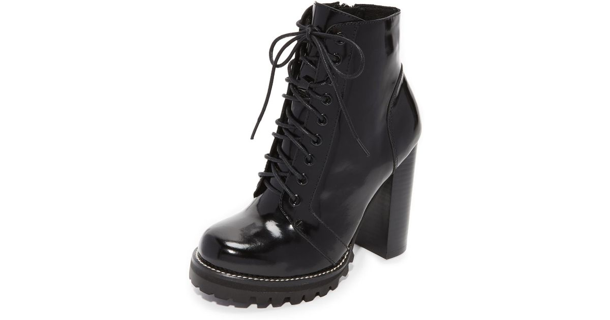 05a329a1002 Jeffrey Campbell Black Legion Lace Up High Heel Booties