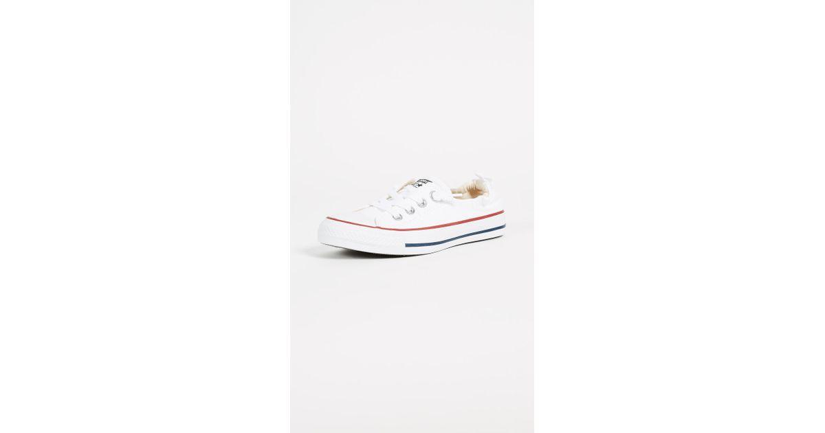 ba9e7f27764cc4 Converse. Women s White Chuck Taylor All Star Shoreline Slip On Sneakers