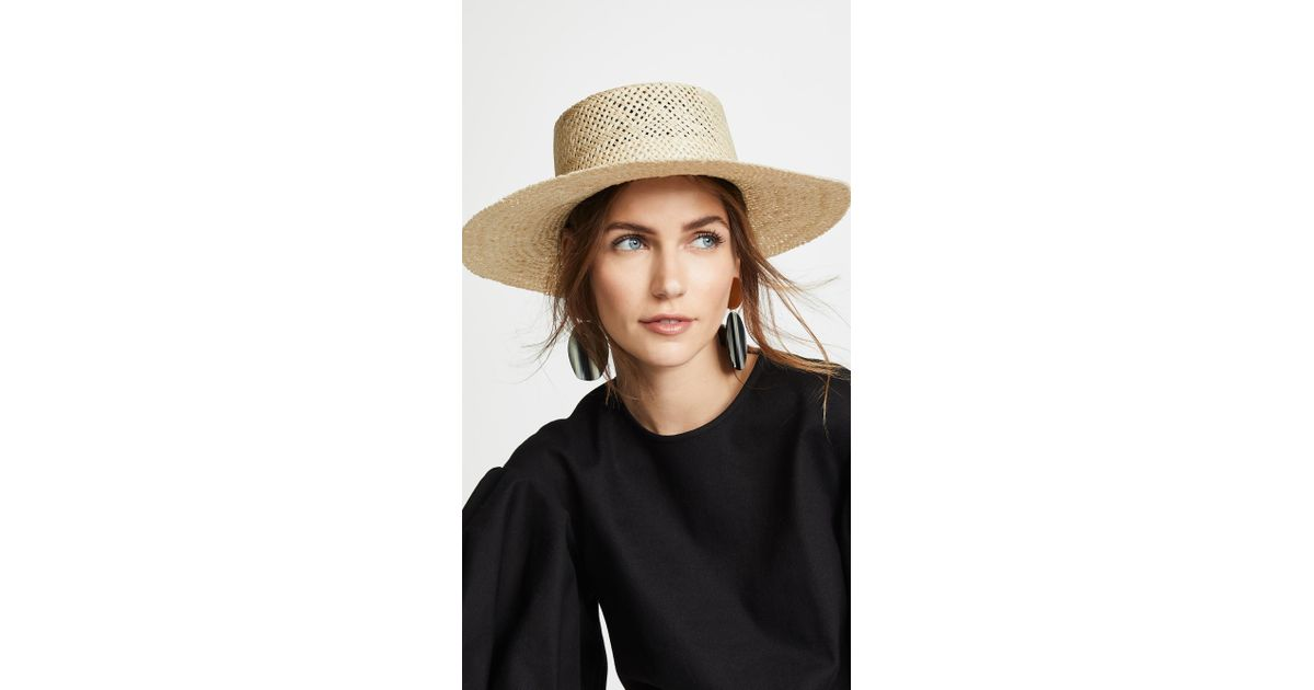 cb203473212bb0 Janessa Leone Beatrice Hat in Natural - Lyst