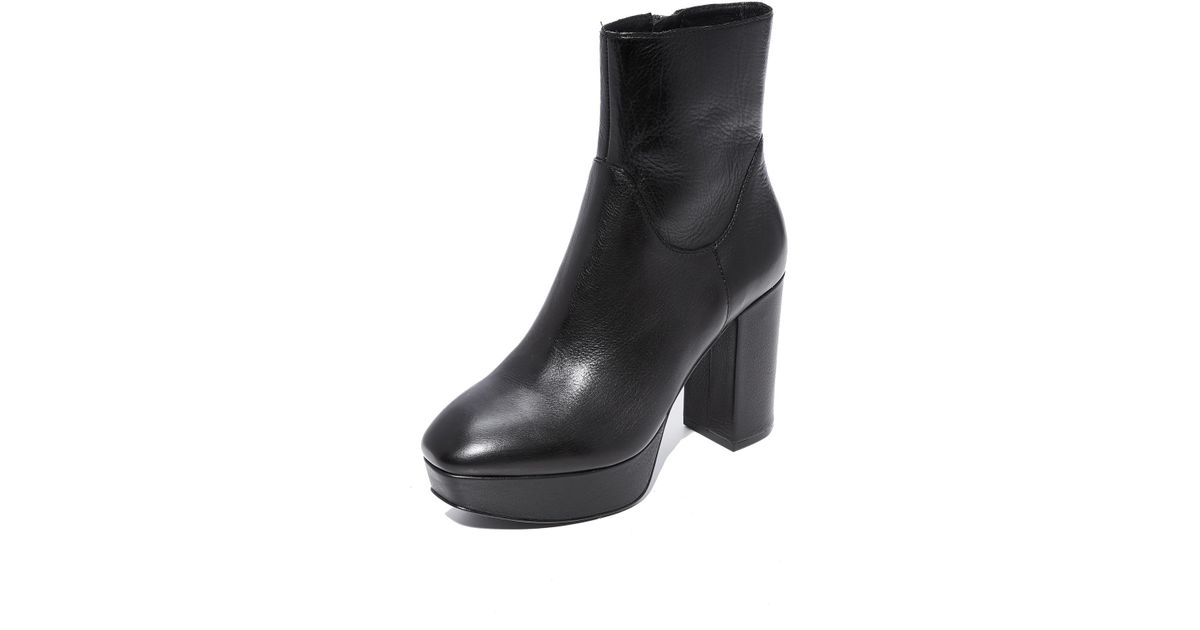 Ash Leather Amazon Platform Booties in
