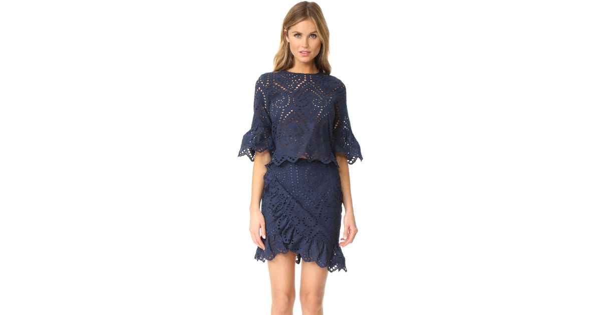 05ab3aed5e One By Valerie Wrap Dress in Blue - Lyst