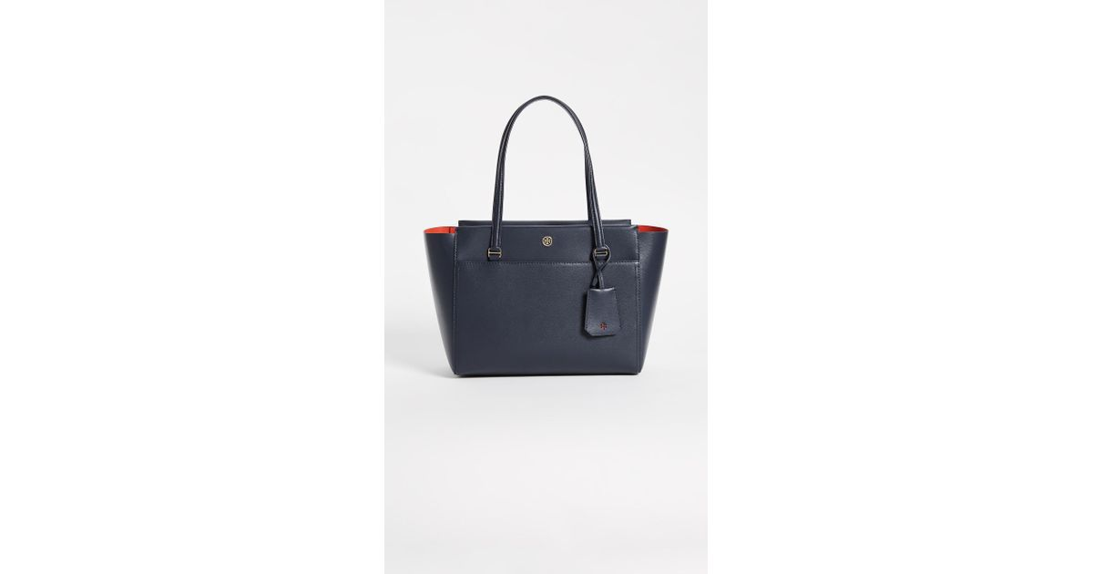 4a8afb1e433c Lyst - Tory Burch Small Parker Tote in Blue