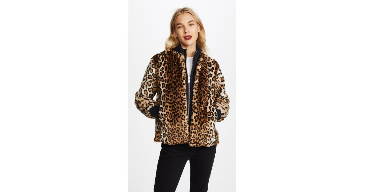 5f4c23a289b Ganni Ferris Faux Fur Jacket - Lyst