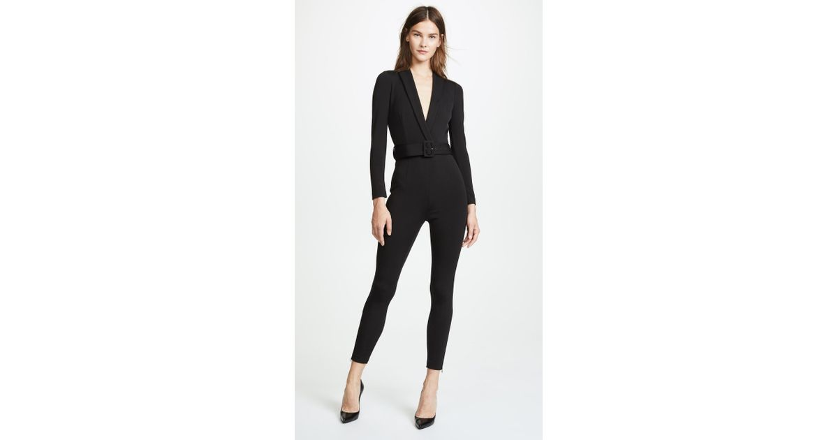 2806eb4edd8 Misha Collection Caroline Jumpsuit in Black - Lyst