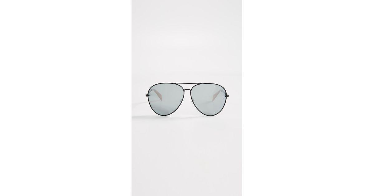 1cb18b8e196 Lyst - Rag   Bone Runway Aviator Sunglasses