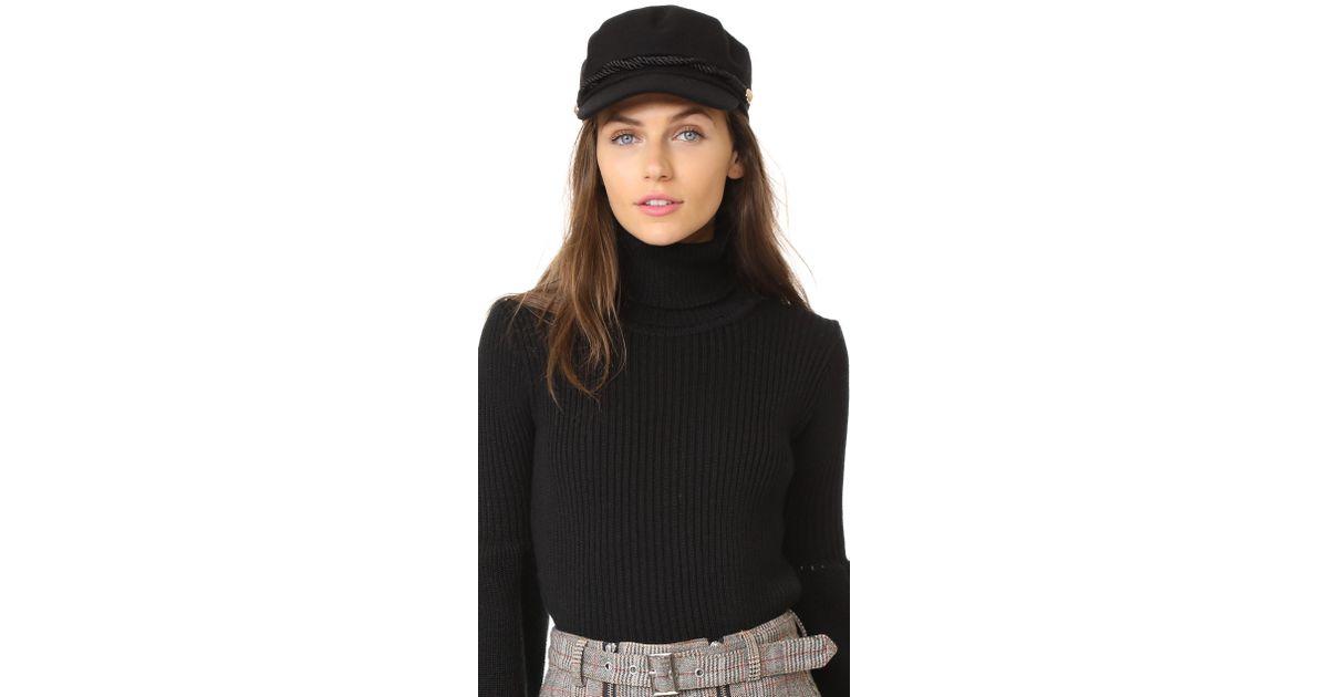 Lyst - Hat Attack Emmy Wool Cap in Black afbec9c3f4f